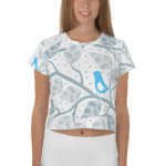 Summer Bird #2 – Komplett bedrucktes Ladies Crop-T-Shirt