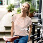 Pluie de fleurs – Komplett bedrucktes Ladies Crop-T-Shirt