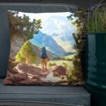 The man in mountains – Premium-Kissen