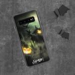 Kürbisgeist auf Feld – Samsung Handyhülle