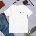 Roses de feu (jestrickt) – Unisex Premium Shirt